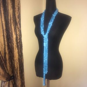 Jewelry - Turquoise beaded & stone long necklace